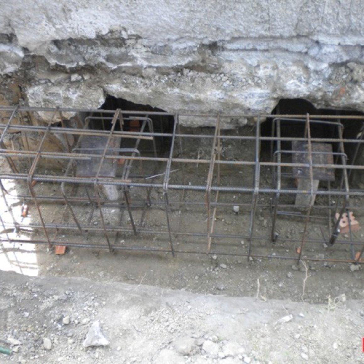 Cordolo di fondazione consolidamento con micropali Mingo Costruzioni Imola