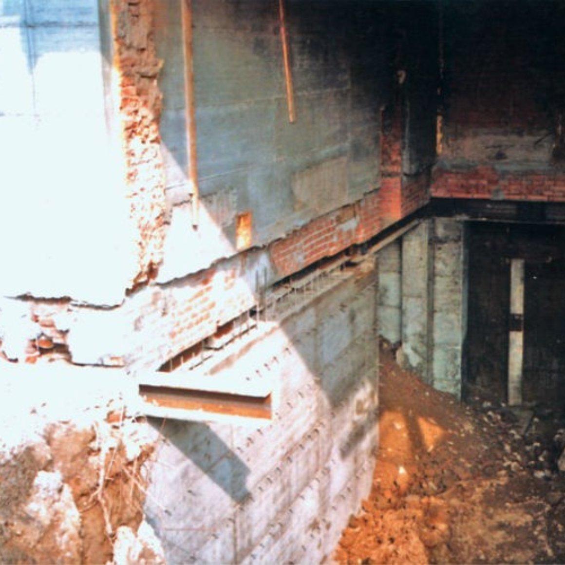 Getto di parete in calcestruzzo Mingo Costruzioni Creazioni Vani Interrati