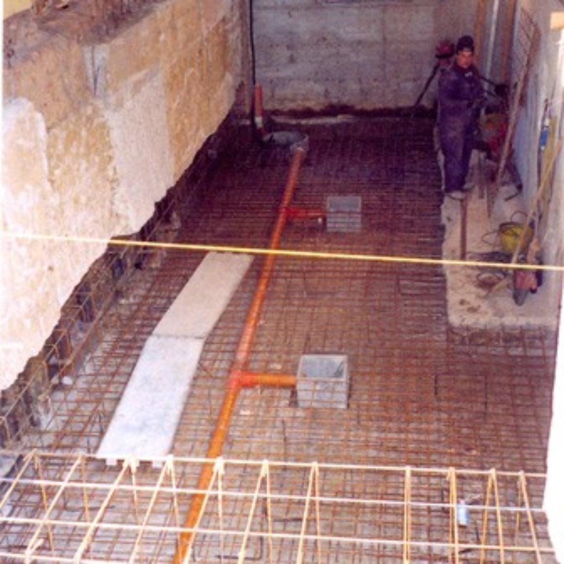 Preparazione Massetto per la preparazione Creazione Vani Interrati Mingo Costruzioni Imola