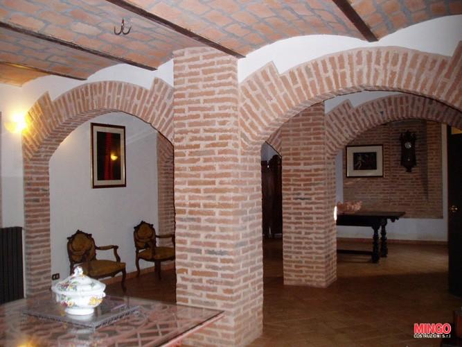 Recupero delle Volte e colonne in pietravista Mingo Costruzioni Imola